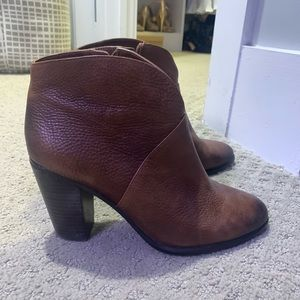 Vince Camuto Brown Leather Booties